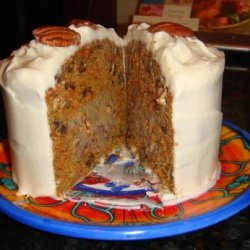 Carrot Cake With Pecan Cream Filling and Cream Cheese Icing recipe