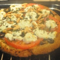 Goat Cheese, Tomato, and Basil  Pizza recipe