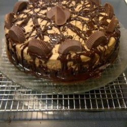 Peanut Butter Cup Brownie Bottom Cheesecake recipe