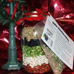 Rainbow Bean Soup Mix in a Quart Jar recipe