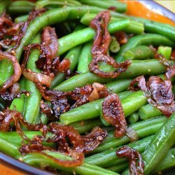 Green Beans With Caramelized-Shallot Butter recipe
