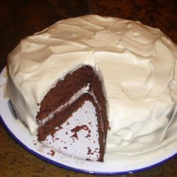 Chocolate Buttermilk Cake With a Sour Cream Frosting recipe