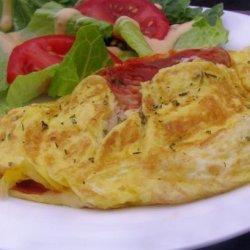 Pizza Omelette recipe