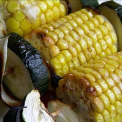 Grilled Fresh Summer Corn Kabobs recipe