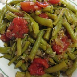 Fresh Green Beans With Tomatoes and Oregano recipe