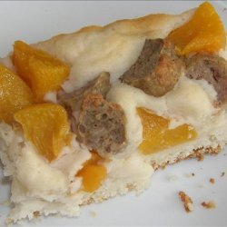 Sausage and Peach Breakfast Casserole recipe