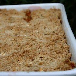 Apple and Rhubarb Crumble recipe