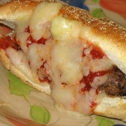 Italian Meatball Burger recipe