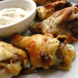 Garlic-Lime Chicken Wings With Chipotle Mayonnaise recipe
