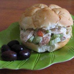 Mediterranean Chicken Salad Sandwiches recipe