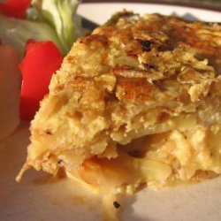 Tortilla Espanola (Traditional Spanish Potato Omelete). recipe