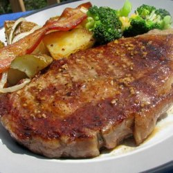 Garlic Grilled Steaks (Basting Sauce) recipe