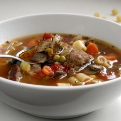 Spicy Beef Vegetable Soup recipe