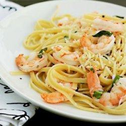 Lemon Shrimp With Pasta and Basil recipe