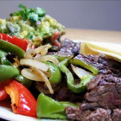 Grilled Skirt Steak With Avocado-Tomato Salsa recipe