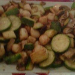 Scallops With Zucchini recipe