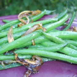 Haricots Verts With Carmelized Shallots recipe