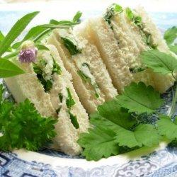 Herb Cheese Tea Sandwiches recipe