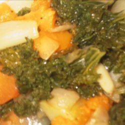 Roasted Vegetables With Kale recipe