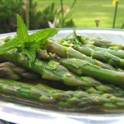 Asparagus With Lemon and Mint recipe