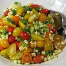 Corn and Tomato Salad With Cilantro Dressing recipe
