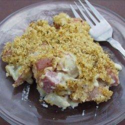 Swiss Ham Potato Scallop recipe