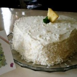 Lemon Layer Cake With Pineapple Filling recipe