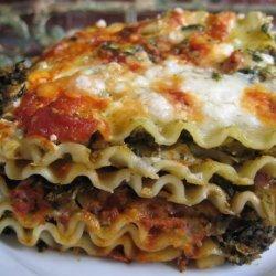 Pesto Artichoke Spinach Lasagna recipe