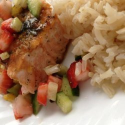 Grilled Salmon with Strawberry Salsa recipe
