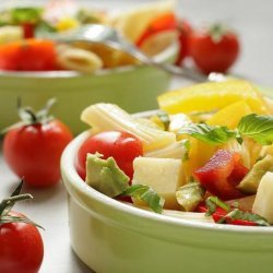 Hearty Vegetarian Pasta Salad recipe