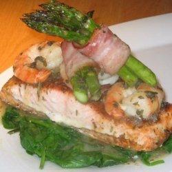 Salmon With Herb Shrimp Sauce recipe