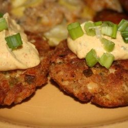 Chicken Cakes With Remoulade Sauce (Quick & Easy!) recipe