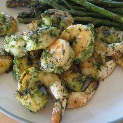 Cilantro Pesto Grilled Shrimp recipe