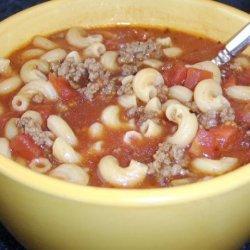 Pantry Tomato Beef Soup recipe