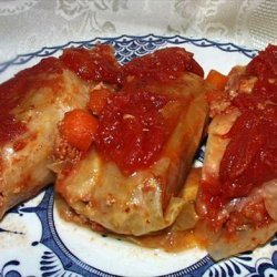 Sweet 'n Sour Stuffed Cabbage Rolls ( golumbke ) recipe