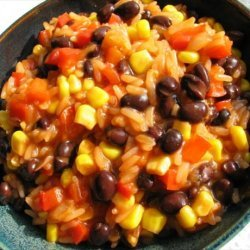BBQ Black Beans and Rice recipe
