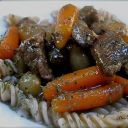 Bistro Braised Beef With Shiitake and Pearl Onions recipe