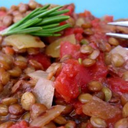 Lentils With Onions and Tomatoes recipe