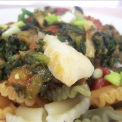 Spicy Cod With Tomatoes and Spinach recipe