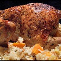 Swedish Roast Chicken With Spiced Apple Rice recipe