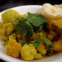 Lentil, Chickpea, Vegetable Curry recipe