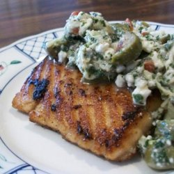 South Beach Diet Grilled Salmon With Artichoke Salsa recipe