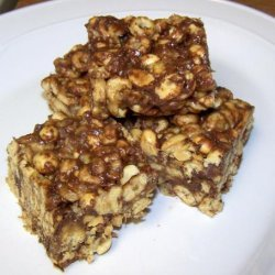 Peanut Butter Snack Bars (No Bake) recipe