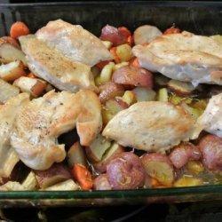 Easy Roast Chicken Dinner recipe