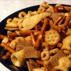 Christmas Nuts N' Bolts Snack recipe