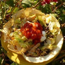 Bean and Chicken Taco Salad recipe