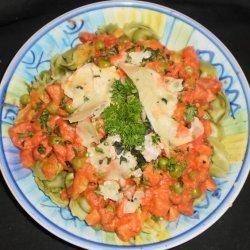 Pea and ham pasta sauce recipe