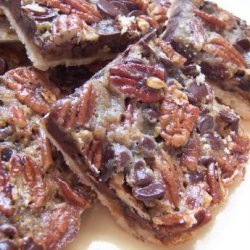 Chocolate Pecan Pie Bars recipe
