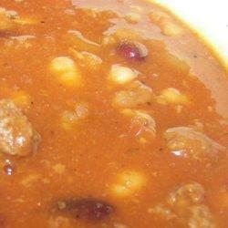 Hamburger Bean Soup recipe
