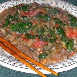 Vietnamese Style Pepper Beef and Spinach recipe